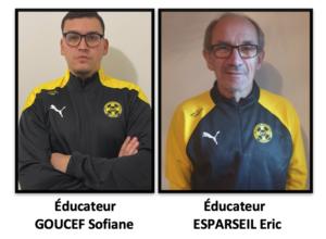 Éducateurs : GOUCEF / ESPARSEIL