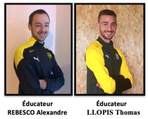 Éducateurs : REBESCO / LLOPIS